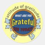 Attitidue de la gratitud pegatina