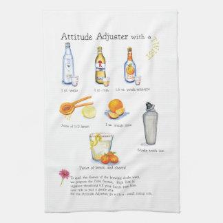attitude adjuster cocktail bar cloth hand towel