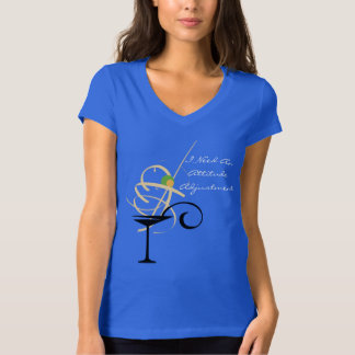 Attitude Adjustment Happy Hour Gala Martini Glass T-Shirt