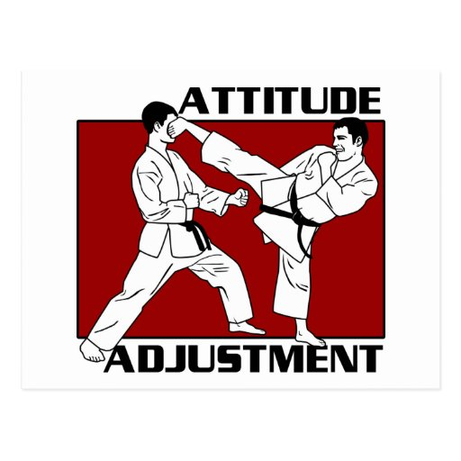 Attitude Adjustment Postcard