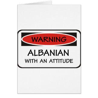 Attitude Albanian Card