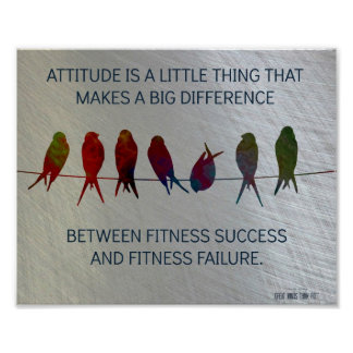 Attitude, Birds and Steel Motivation Posters