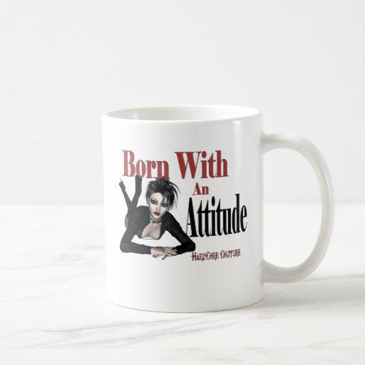 * Attitude Born with an Attitude Coffee Mug