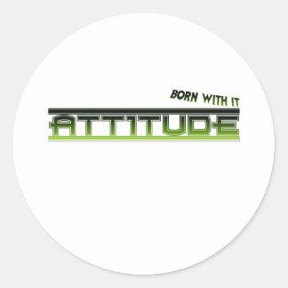 Attitude: Born With It Sticker