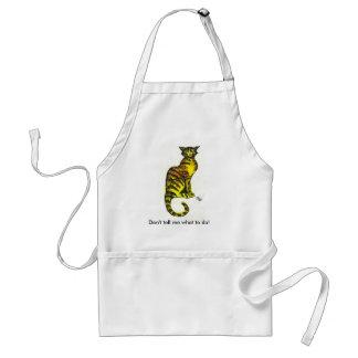 Attitude cat adult apron