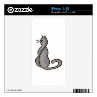 Attitude Cat iPhone 4S Skins