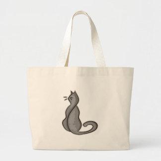 Attitude Cat Large Tote Bag