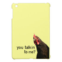 Attitude Chicken - You Talkin' To Me? iPad Mini Cases