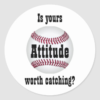 Attitude Classic Round Sticker