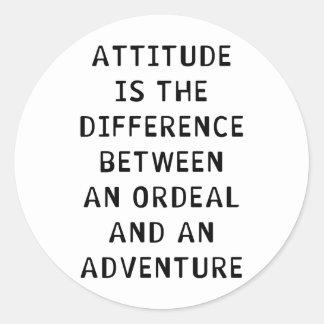 Attitude Difference Classic Round Sticker