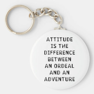 Attitude Difference Keychain