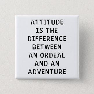 Attitude Difference Pinback Button