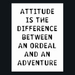 "Attitude Difference Postcard<br><div class=""desc"">See More at http://Label-Me-Happy.com</div>"
