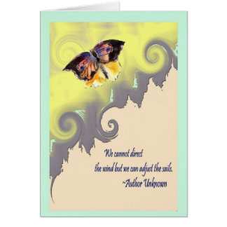 Attitude direction and challenge greeting card