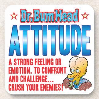 ATTITUDE Dr Bum Head Drink Coaster