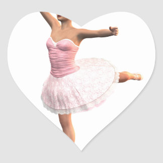 Attitude En Pointe Heart Sticker