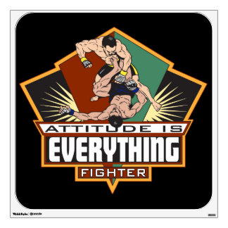 Attitude Fighter Wall Sticker