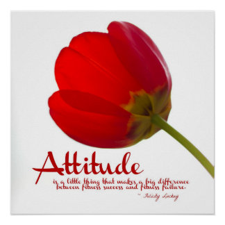 Attitude for Fitness Success: Red Tulip Poster