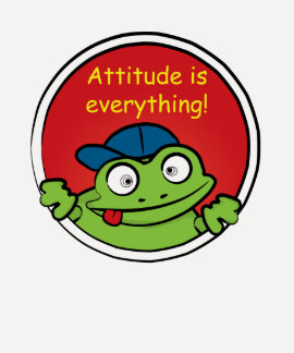 Attitude Frog tee
