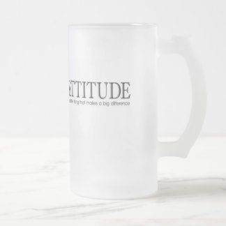 ATTITUDE FROSTED GLASS BEER MUG