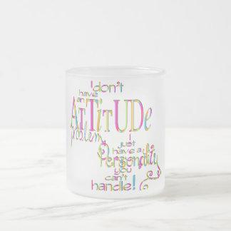 Attitude - Frosted Glass Mug