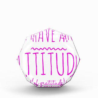 Attitude Gratitude Recovery Detox AA Acrylic Award