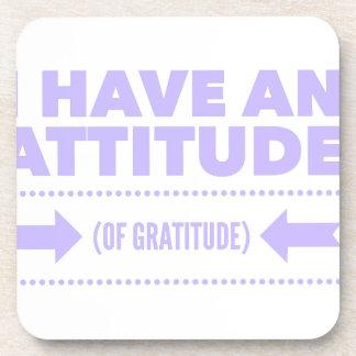 Attitude Gratitude Recovery Detox AA Beverage Coaster