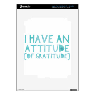 Attitude Gratitude Recovery Detox AA iPad 3 Decal