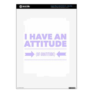 Attitude Gratitude Recovery Detox AA iPad 3 Skin