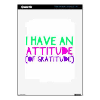 Attitude Gratitude Recovery Detox AA Skins For iPad 3