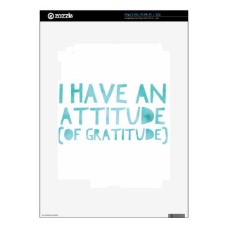 Attitude Gratitude Recovery Detox AA Skins For The iPad 2
