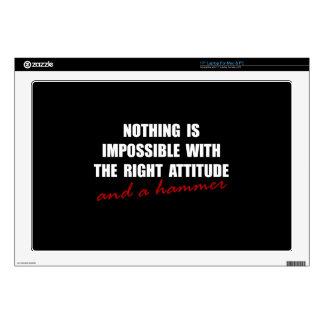 "Attitude Hammer 17"" Laptop Skins"