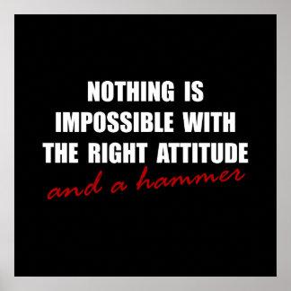 Attitude Hammer Poster