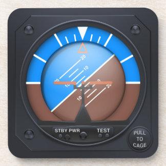 Attitude Indicator Coaster Set - banked right
