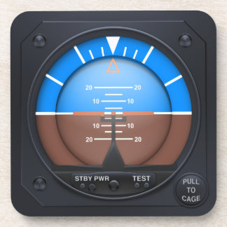 Attitude Indicator Coaster Set - level