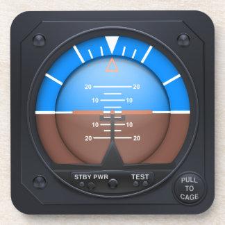 Attitude Indicator Coaster Set - level