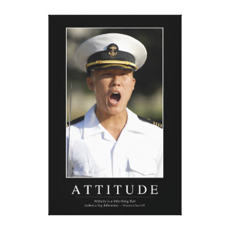 Attitude: Inspirational Quote 2 Canvas Print