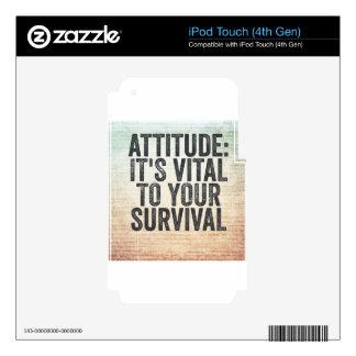 Attitude iPod Touch 4G Skin