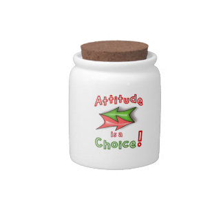 Attitude is a Choice Candy Jars
