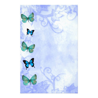 Attitude is a choice Inspiration Blue Butterflies Stationery