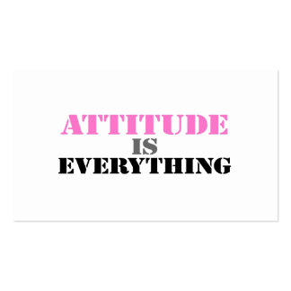 Attitude Is Everything Business Card