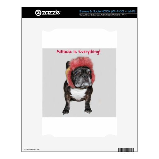 attitude is everything cute dog NOOK decal