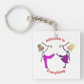 Attitude is Everything-Dancers with Canes Keychain