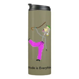 Attitude is Everything - Dancing with Cane Thermal Tumbler