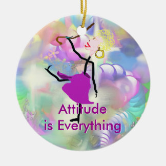 Attitude is Everything-Woman Dancing with Canes Ceramic Ornament