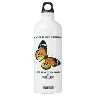 Attitude Is Like A Butterfly Flap Your Wings Soar Aluminum Water Bottle
