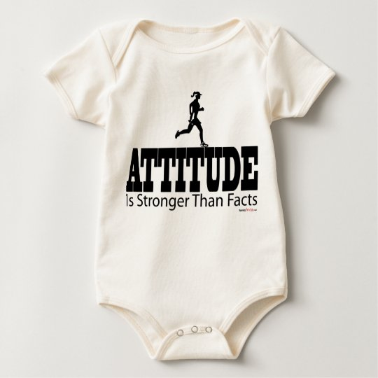 Attitude is Strong Than Facts Baby Bodysuit