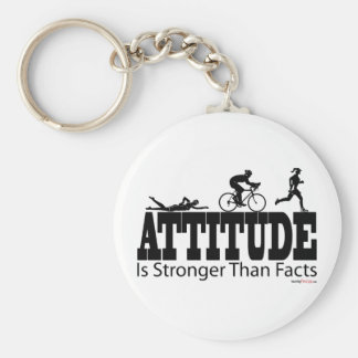 Attitude is Stronger than Facts Basic Round Button Keychain