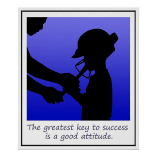 Attitude is the key to success Poster