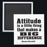 """Attitude makes a big difference magnet<br><div class=""""desc"""">Attitude makes a big difference Magnet.Magnet is covered with scratch- and UV-resistant Mylar. Attitude makes a big difference is the popular quote of Sir Winston Churchill.Success and performance depends on our attitude. A person with positive attitude is a high performer. In our life there are things over which we have...</div>"""